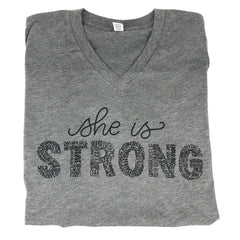 She is Strong Grey Tee