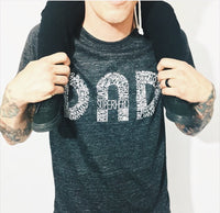 DAD Tee black + white
