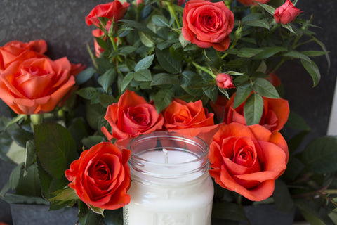 Rose 8 oz Soy Blend Candle