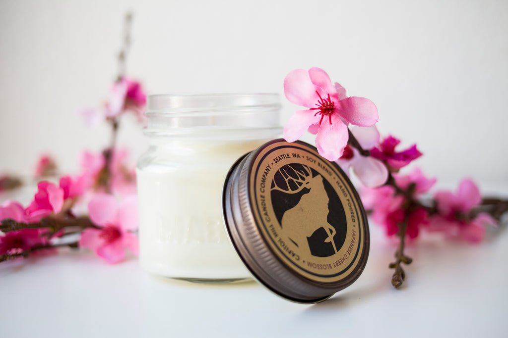Japanese Cherry Blossom  8 oz Soy Blend Candle