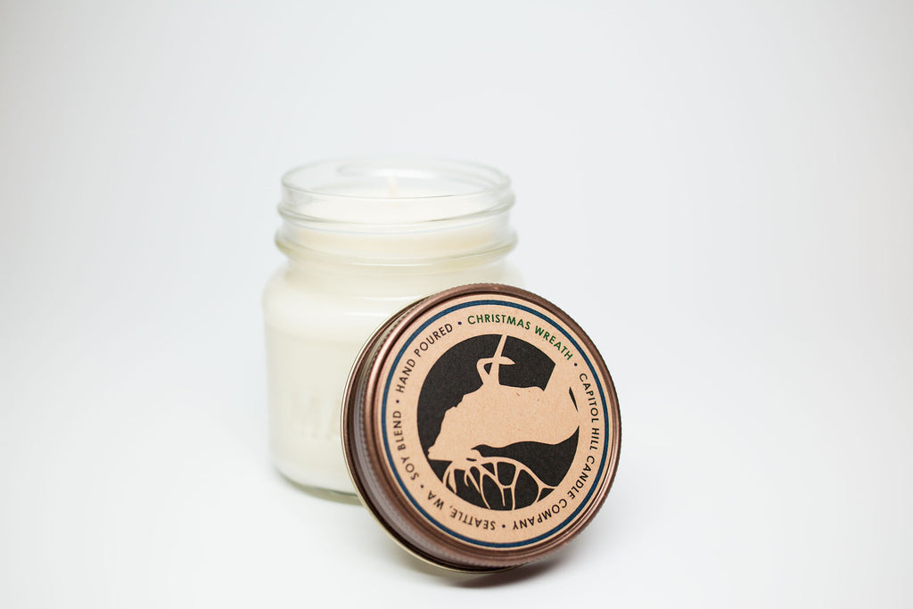 Christmas Wreath 8 oz. Soy Blend Candle