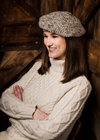 THE TAN BERET - LADIES ITALIAN SOFT, WOOL-BLEND KNIT BERET - SAVE $15