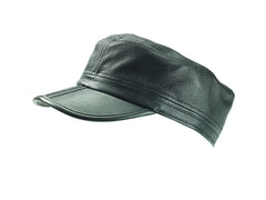 The Clarke - Leather Military Cap - Only 5 caps left in stock