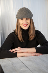 The Delmonte - Our  Fashionable Knit Cashmere Pub Cap from Italy