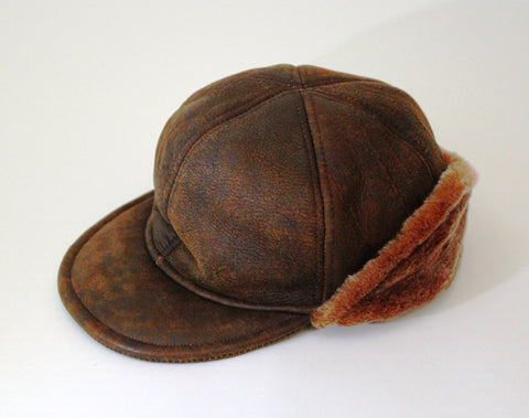 THIS IS A SPECIAL BUY!!    GENUINE LAMBSKIN JOCKEY CAP WITH CUFF