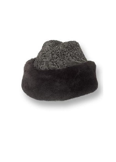 SPECIAL PURCHASE!  THE STATESMAN - Genuine Persian Lamb/Mouton Cossack Style Cap -LAST ONE