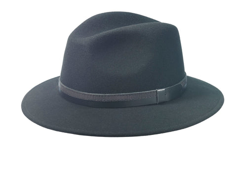 WOOL FELT SAFARI HAT WITH EAR-FLAPS FROM ITALY