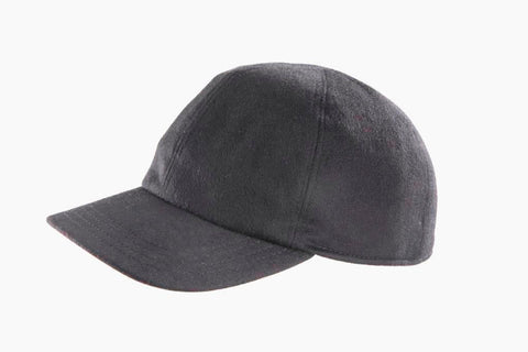 Cashmere-blend Baseball Cap - Dark Charcoal Grey - SAVE 20%