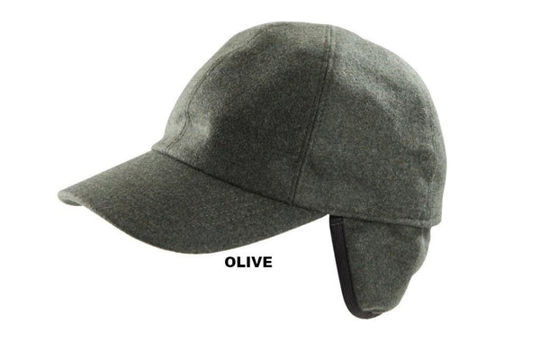 6fe0231d4b3 Cashmere Baseball Cap with Ear Flaps from Europe - Stefeno Hats