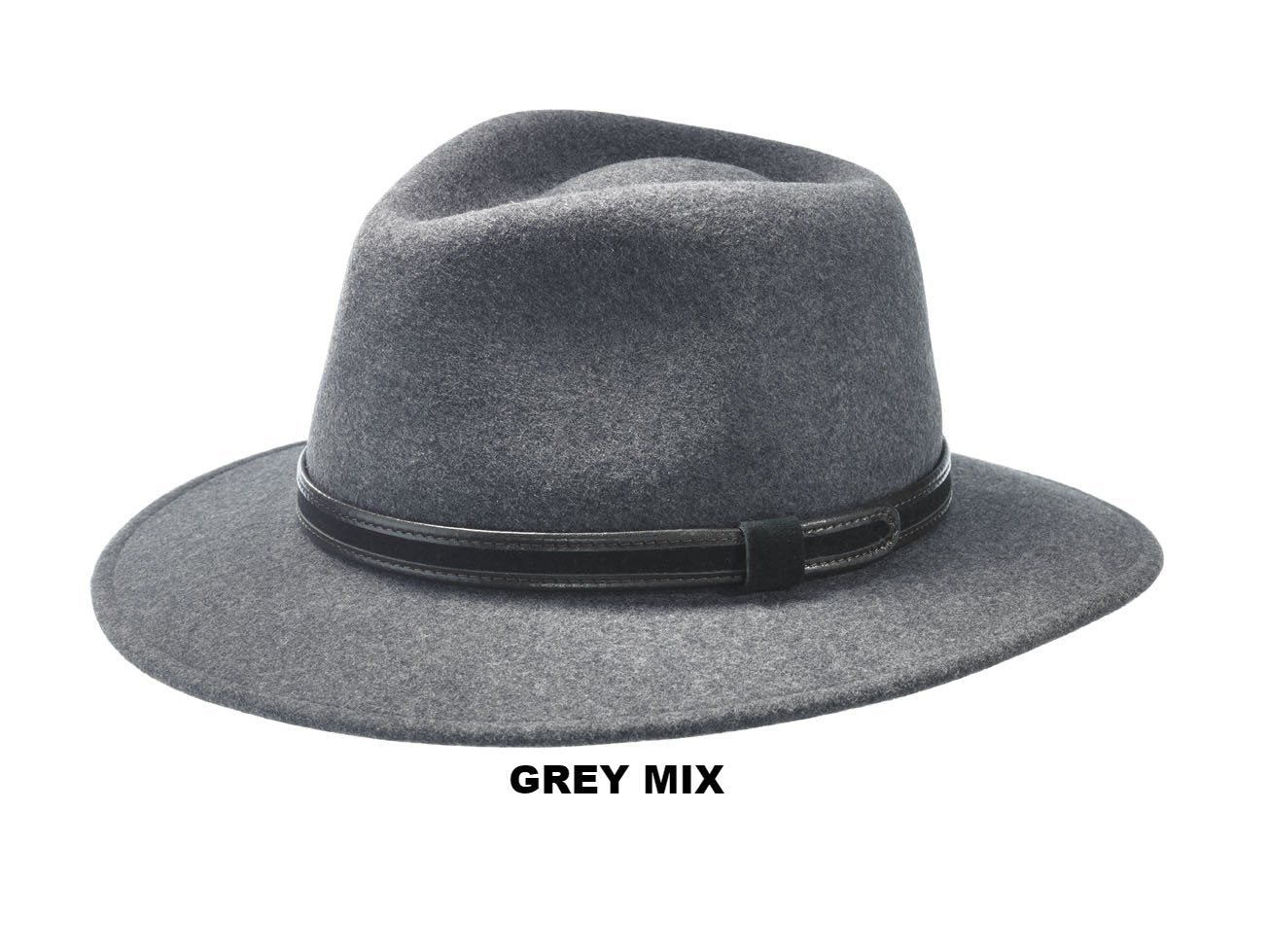 31b7c18ad53 THE WALKER - WOOL FELT HAT WITH A DOWNTURN BRIM AND LEATHER HAT BAND FROM  ITALY