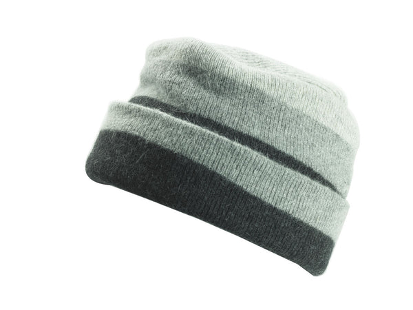 ANGORA CUFFED WARM KNIT CAP - MADE IN ITALY