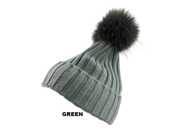 642272e7bb9 CASHMERE CAP RACHELLE - 100% Cashmere Beanie with Fur Pompom - Made in Italy
