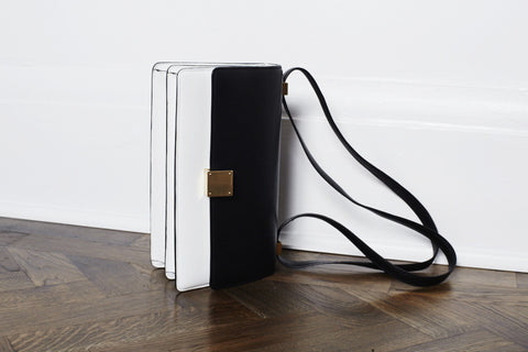 CELINE TWO-TONE CALF SKIN BAG
