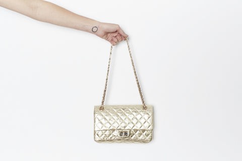 CHANEL 2.55 MEDIUM GOLD