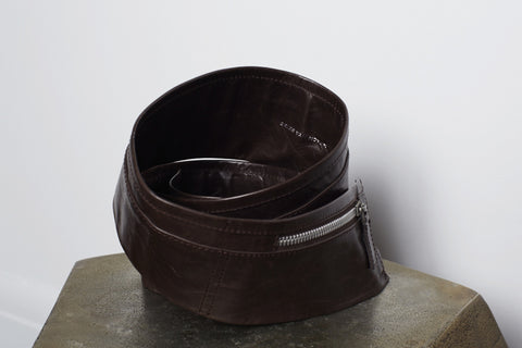 Dries Van Noten brown leather belt