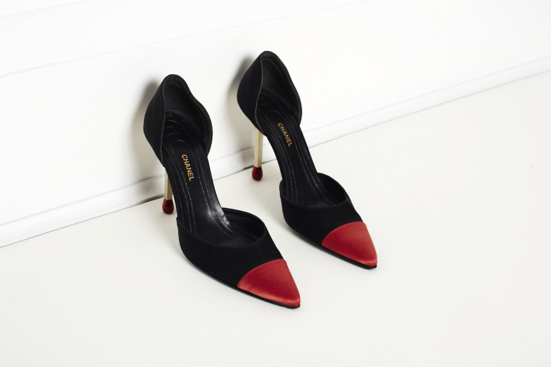 Chanel RARE Collectable Matchstick Heels