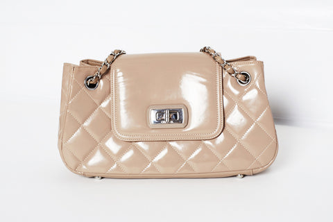 Chanel Quilted Patent Accordion Shoulder Bag