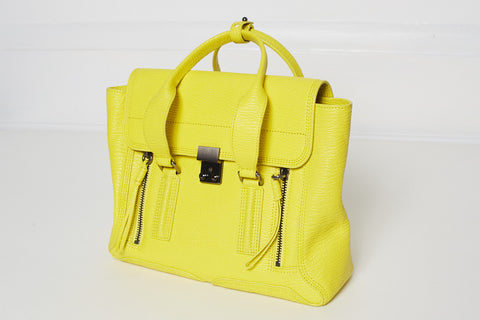 3.1 PHILLIP LIM Pashli Medium Zip Satchel Bag, Neon Yellow