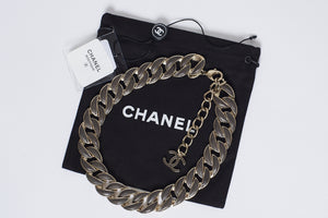Chanel Leather & Chain Necklace
