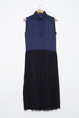 Celine Navy & Black Silk Dress