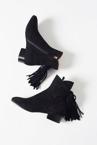 Chloe Black Suede Boots