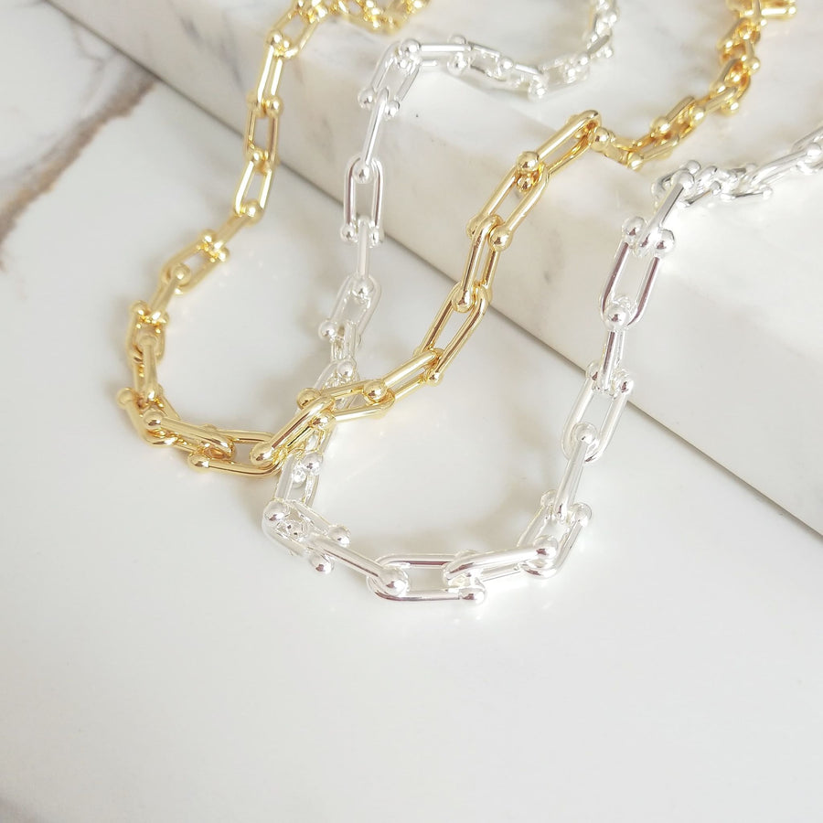 Saskia - 14ct Gold or Silver Plated Necklace