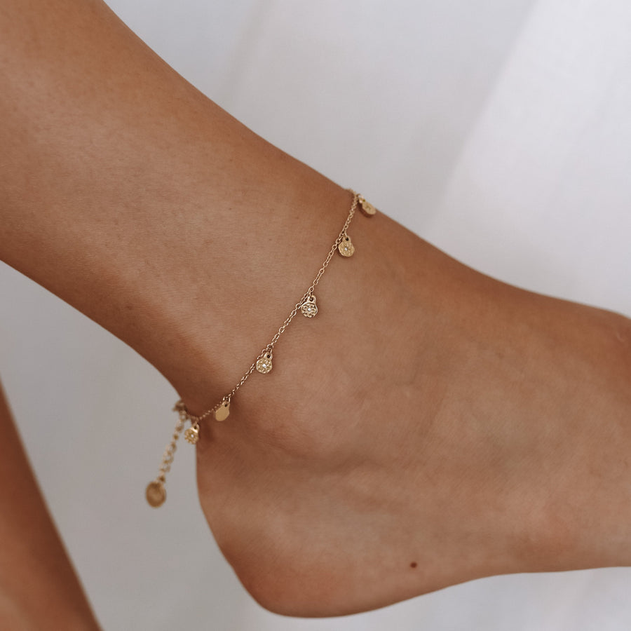 Annika - 14ct Gold or Silver Plated Anklet