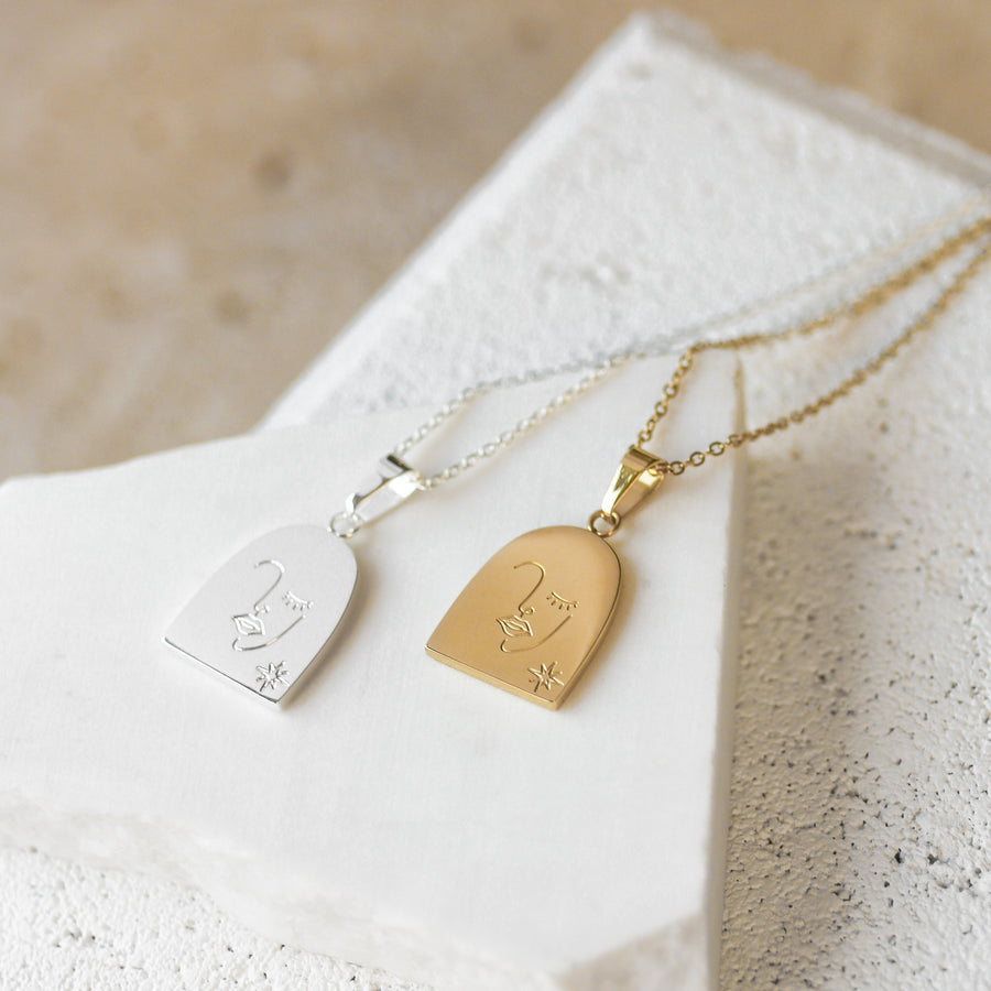 Cass - 14ct Gold or Silver Plated Stainless Steel Necklace