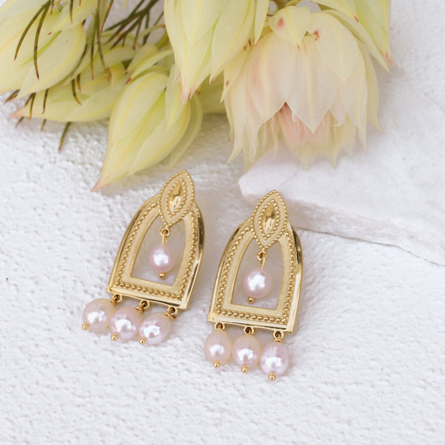 Dylan - Pearl Bridal Earrings