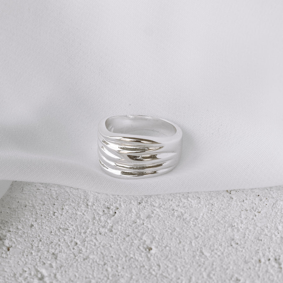 Alyssa - Stainless Steel Statement Ring