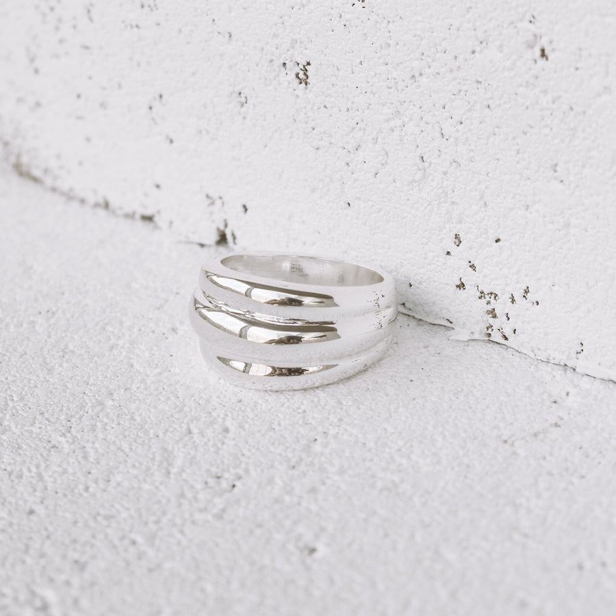 Sienna - Stainless Steel Statement Ring