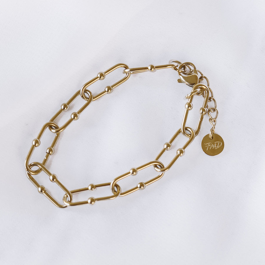 Lilah - 14ct Gold Plated or Silver Plated Stainless Steel Bracelet