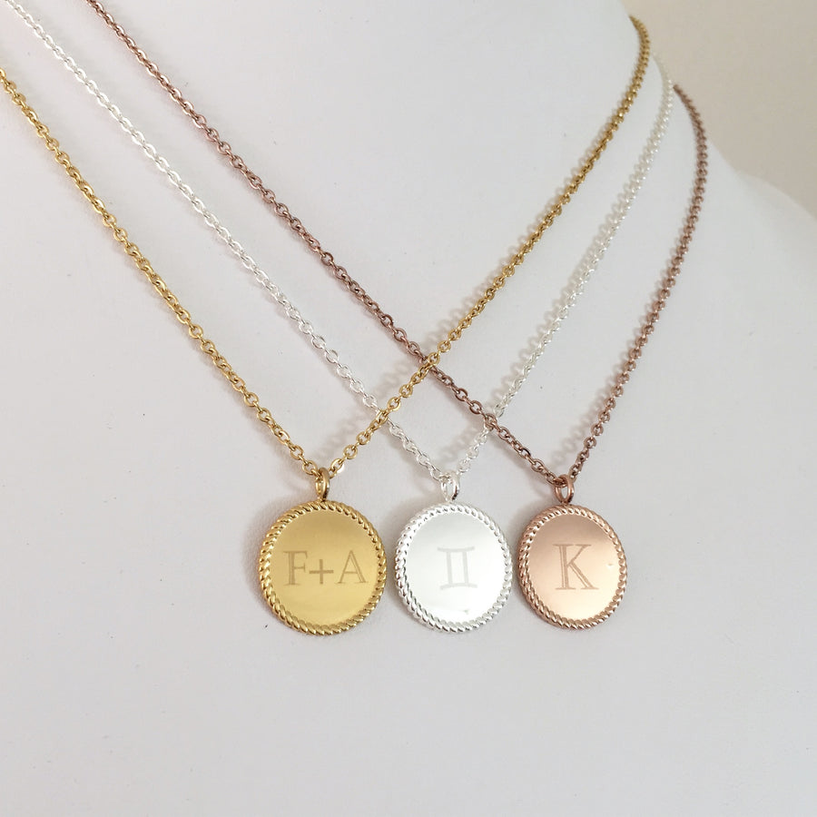 Ana - Monogrammed Statement Necklace