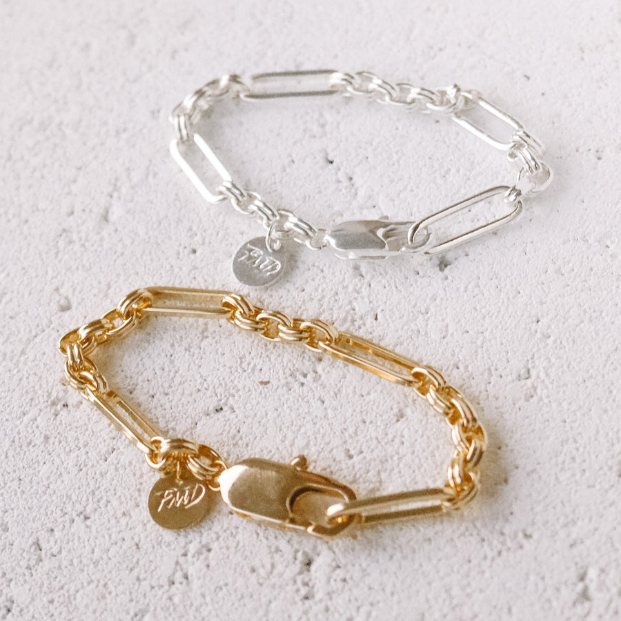 Stevie - 18ct Gold Plated or Silver Plated Bracelet