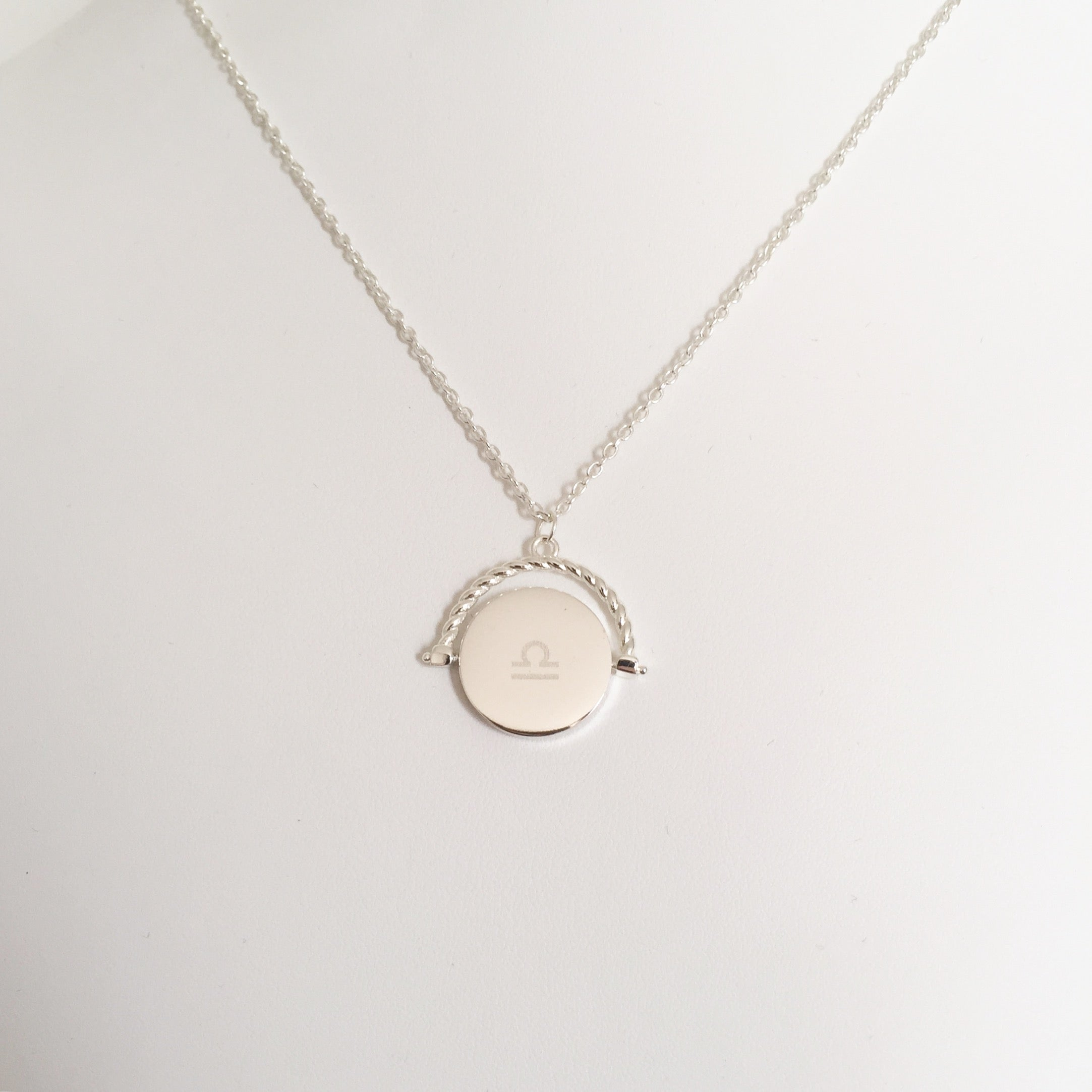 Luxe spin monogrammed pendant necklace frankly my dear store luxe spin monogrammed pendant necklace aloadofball Choice Image