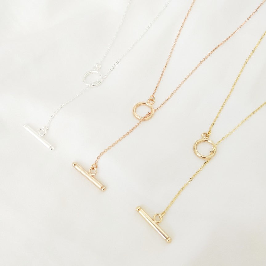 Evie - Fine Necklace in Rose Gold, Gold & Silver