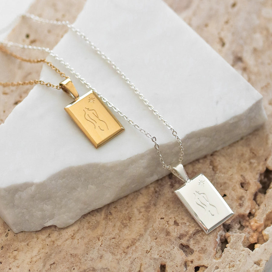 Tori - 14ct Gold or Silver Plated Stainless Steel Necklace
