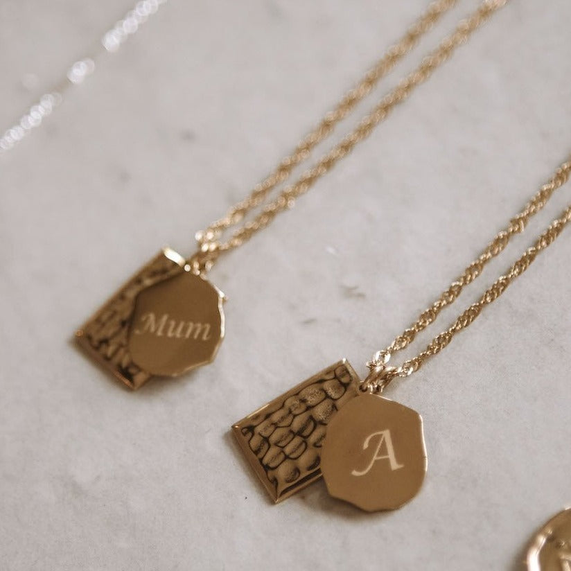 Bridgette - Monogrammed Stainless Steel Necklace
