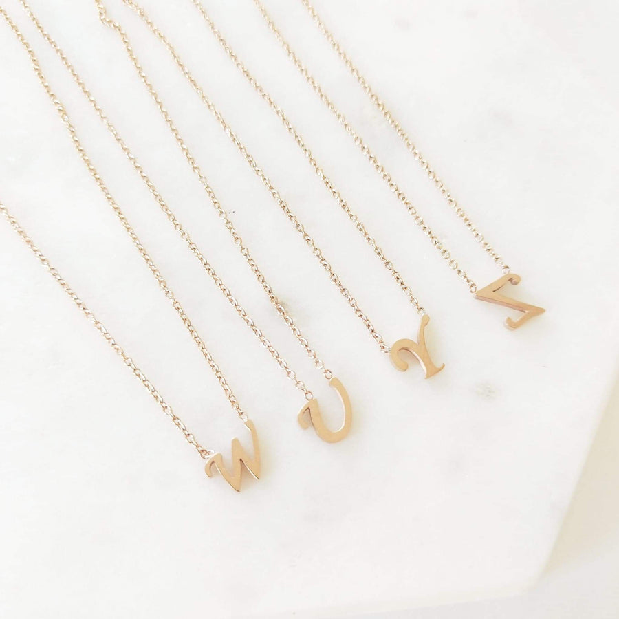 Lola - Silver, Gold or Rose Gold Initial Necklace
