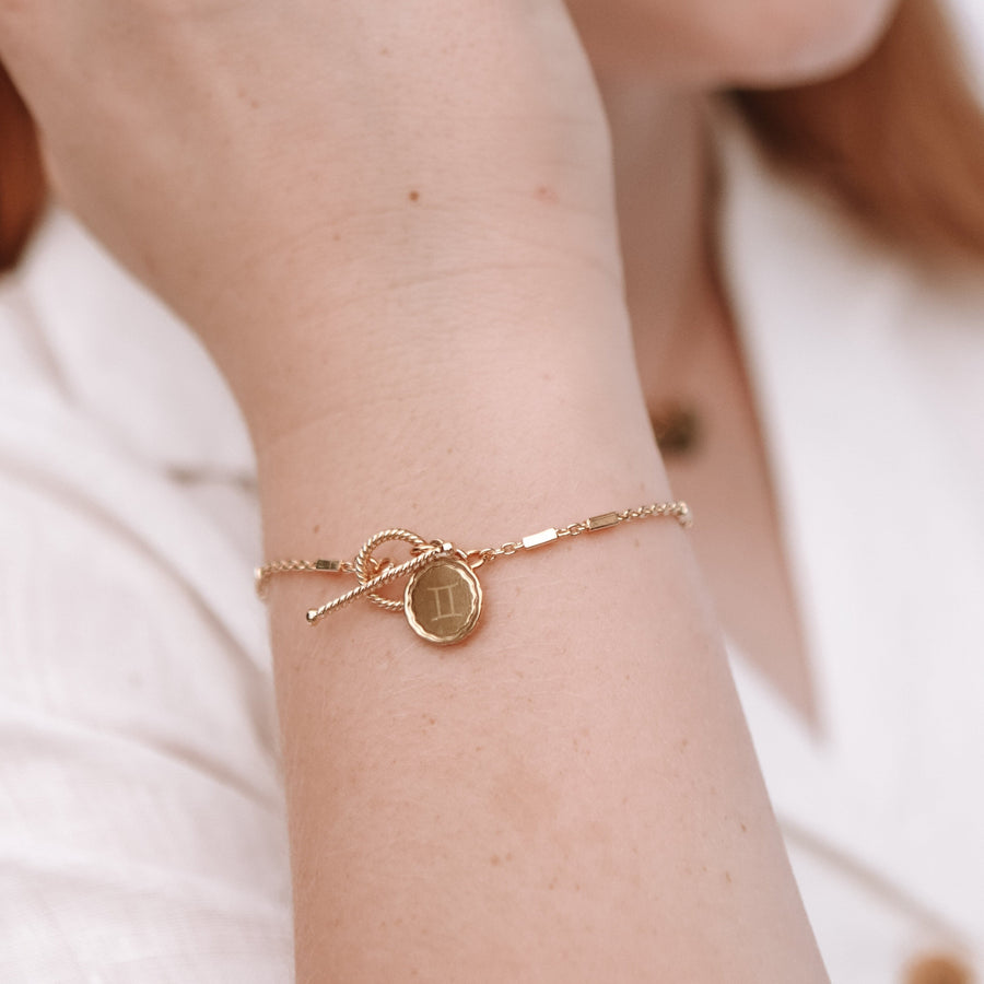 Alice - Child's 14ct Gold or Silver Plated  Monogram Bracelet