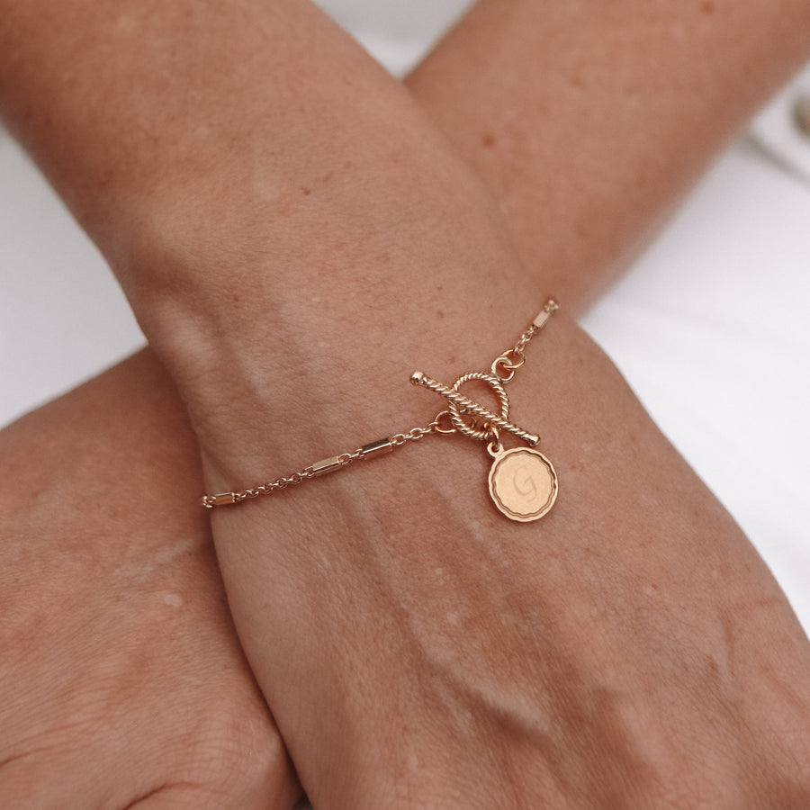 Cora - 14ct Gold or Silver Plated  Monogram Bracelet