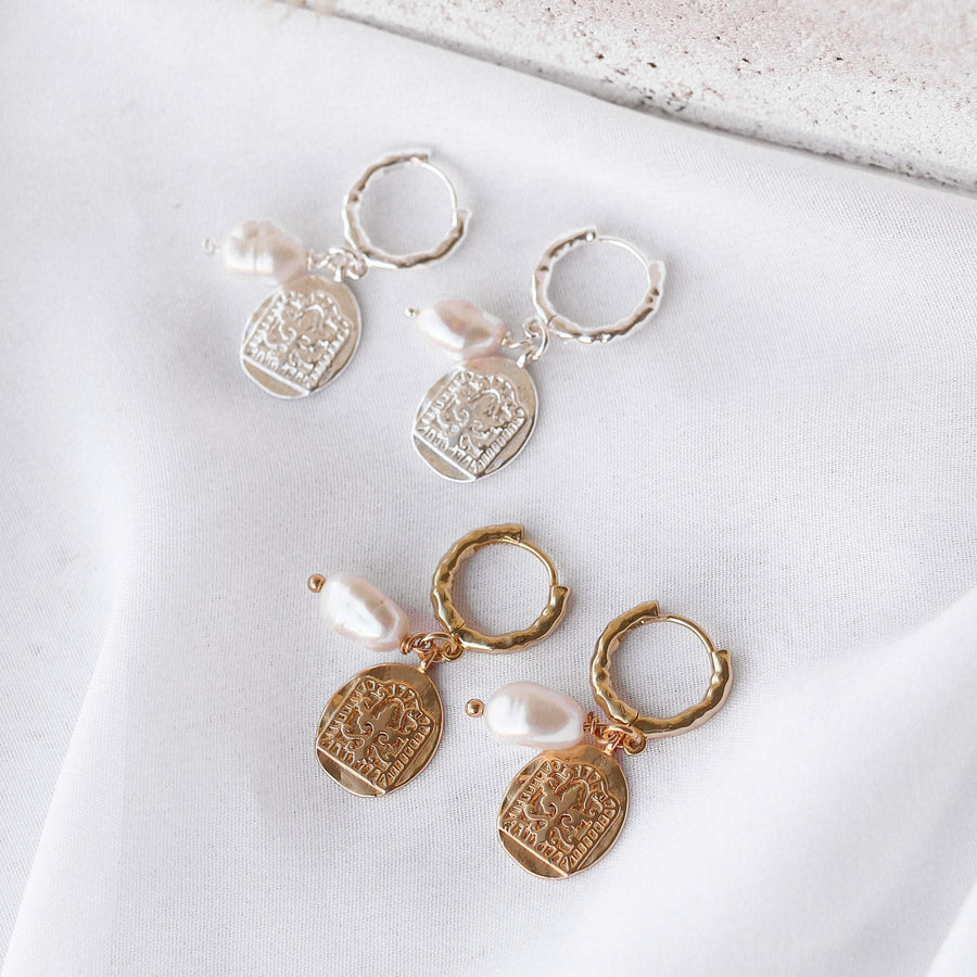 Lucinda - 14ct Gold or Silver Plated Stainless Steel Astrology Wheel Necklace