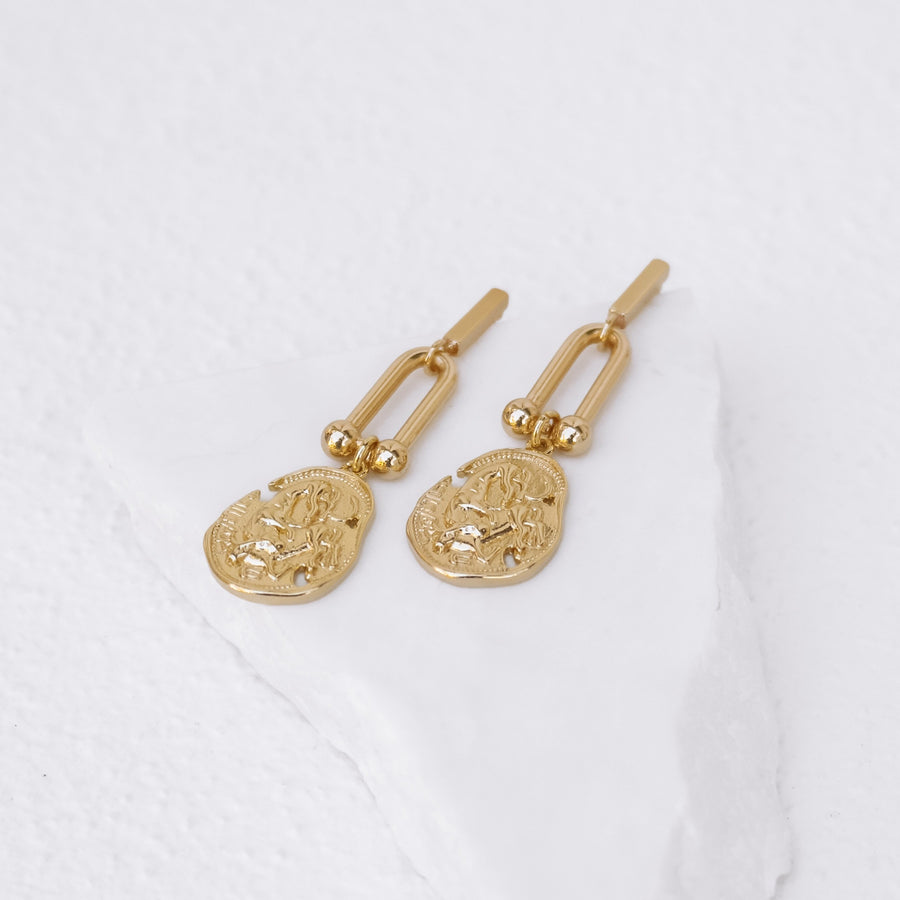 Paris - Gold or Silver Plated Statement Earrings