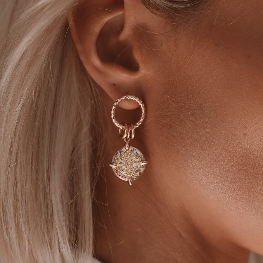 Peta - Gold or Silver Statement Earrings