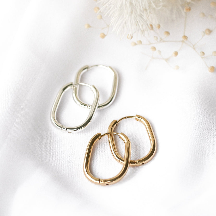 Tallulah - Gold or Silver Stainless Steel Hoops