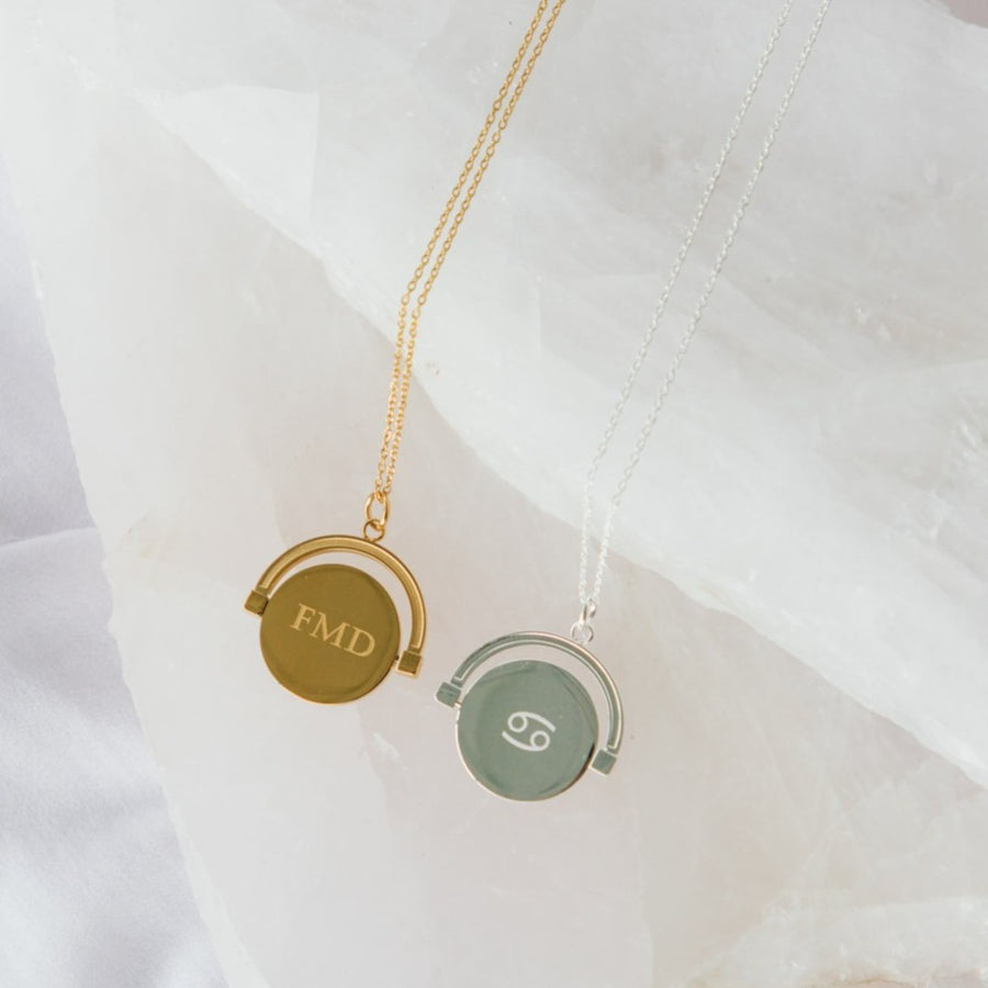 Tully- Spin Monogrammed Pendant Necklace