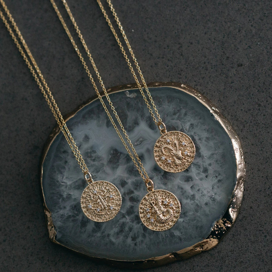 Tiarni - 18ct Gold Plated Horoscope Necklace