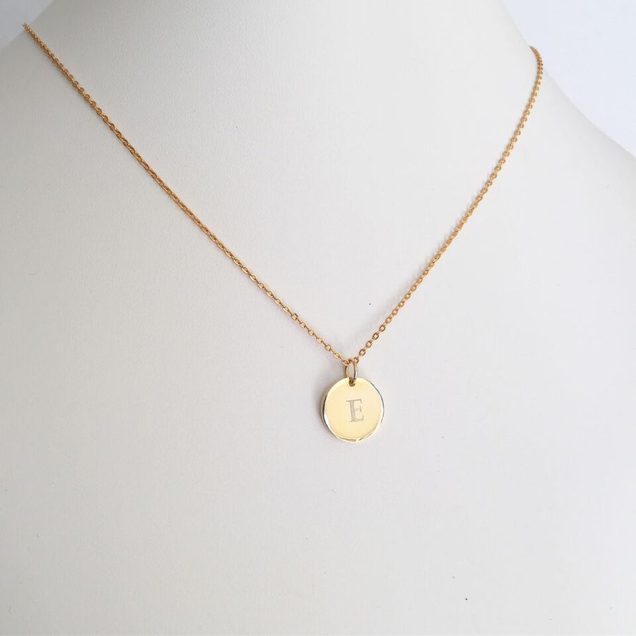 Tess - Silver, Gold or Rose Gold Monogrammed Necklace