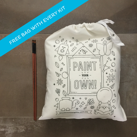 Library Bag + Fabric Paints Gift Packs - Plus FREE extra blank