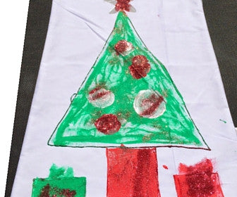 TWO Santa Sacks + Fabric Paints (silver, red & green) (Buy ONE, get the other FREE)
